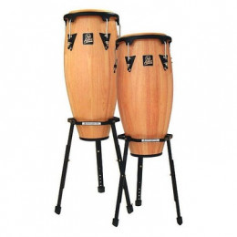 Latin Percussion LPA646B-AW Aspire Wood Congas Set w/Basket Stands Natural Комплект конга и стойки